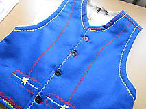 Iné oblečenie - Pánska filcová vesta jednoduchá - 6768434_