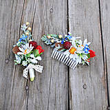 Súprava z lúčnych kvetov pre ženícha a nevestu