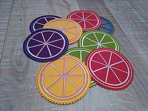 Dekorácie - podšálka citrus / sada 3 ks - 6772319_