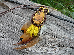 Náhrdelníky - Soutache náhrdelník Indiánka - 6772287_