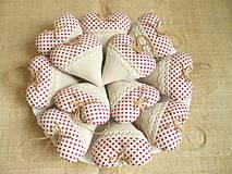 Darčeky pre svadobčanov - Svadobné srdiečka, bodkové - 6771979_