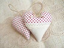 Darčeky pre svadobčanov - Svadobné srdiečka, bodkové - 6771982_