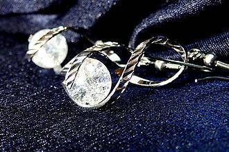 Náušnice - Náušnice priezračné – špirálky a práskačky - 6771271_