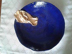 Nádoby - tanier v kráľovskej modrej - 6771684_