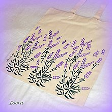 Nákupné tašky - Maľovaná taška Levanduľa - 6768506_