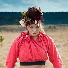Topy - Folklórna blúzka - červená VESNA - 6770807_