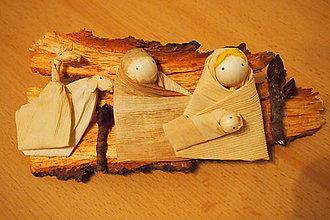 Dekorácie - Betlehem na kôre dreva – šúpolie, kôra - 6771779_
