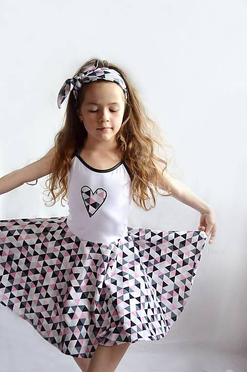 Letné šaty TRIANGLE PINK   lemge - SAShE.sk - Handmade Detské oblečenie 1398b0c18b0
