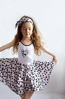 Detské oblečenie - Letné šaty TRIANGLE PINK - 6772487_