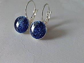 Náušnice - Royal blue earrings - 6769278_