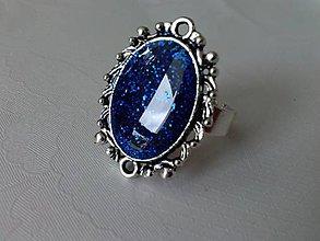 Prstene - Royal blue ring - 6769354_