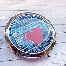 Zrkadielka - ♥ jeans - text na přání - 6772584_