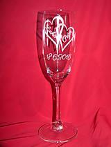 Nádoby - Svadobné poháre + gravirovanie 9 - 6768561_