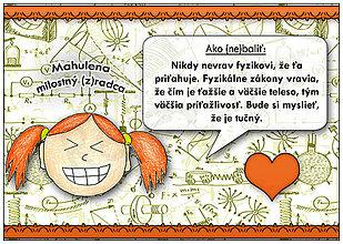 Detské doplnky - Ako (ne)baliť...Linajková podložka do zošita 6 (fyzika) - 6771386_