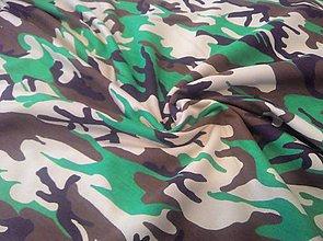 Textil - Teplakovina maskáč - cena za 10 cm - 6774811_