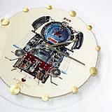 Hodiny - Maľované Hodiny - Albatros 1 (3D ručná maľba parný rušeň) - 6774903_