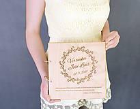 Svadobný album drevo a papier