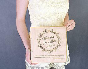 Papiernictvo - Svadobný album drevo a papier - 6773559_