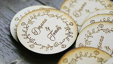 Darčeky pre svadobčanov - Magnetka pre svadobčanov - 6773775_