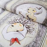 Textil - Santoro La Vie en Rose, bavlnená látka, panel 110 x 60 cm - 6775203_