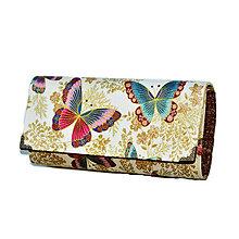 Peňaženky - peněženka Gold Butterfly - 6775084_