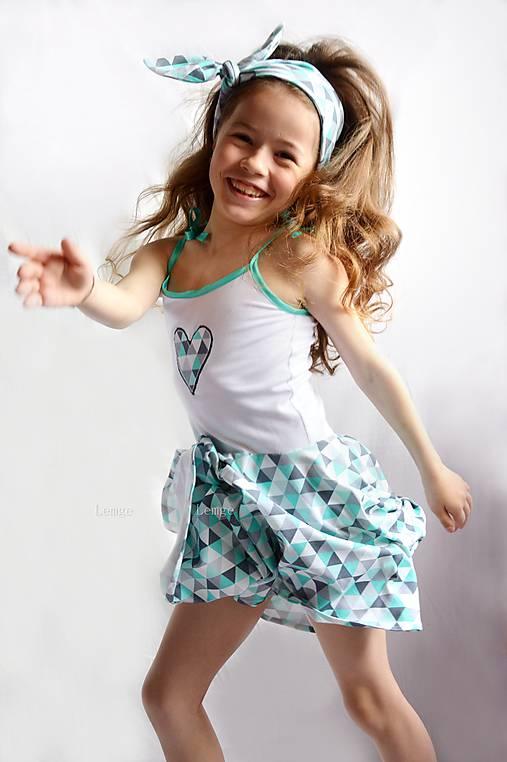 Letné šaty TRIANGLE MINT   lemge - SAShE.sk - Handmade Detské oblečenie e0566dc854a