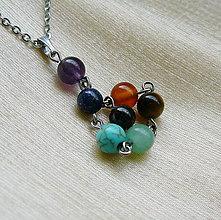 Náhrdelníky - Čakrový náhrdelník - 6773149_