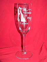 Nádoby - Svadobné poháre + gravirovanie 12 - 6774382_