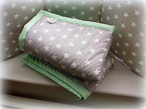 Textil - Prehoz do postieľky z kolekcie Mint v jednoduchom prevedeni - 6780021_