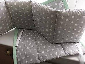 Textil - Mantinel do postieľky v jednoduchom prevedení 180x25 z kolekcie MINT - 6780030_