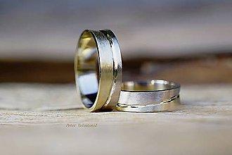 Prstene - Dvojfarebné obrúčky - 6779712_