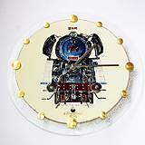Hodiny - Maľované Hodiny - Albatros 1 (3D ručná maľba parný rušeň) - 6777432_