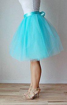 Sukne - Zavinovacia sukňa mentolová - 6776810_