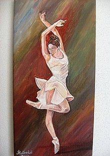 Obrazy - Larisa,obraz baletky,20 x 40 cm - 6779859_