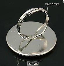 Komponenty - Komponent prsteň s lôžkom Strieborná 25 mm - 6778478_