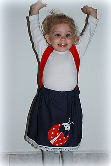 Detské oblečenie - setík lienka s modelkou Emkou :)veľkosť 98 - 6778564_