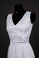 Šaty - Svadobné šaty v štýle 30. rokov - 6777731_