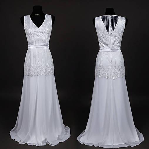 Svadobné šaty v štýle 30. rokov