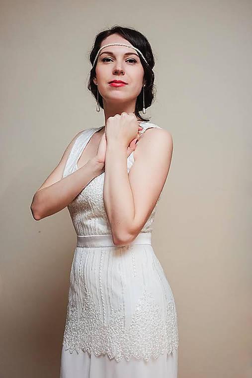 Svadobné šaty v štýle 30. rokov   Dyona - SAShE.sk - Handmade Šaty 6a1745b5169