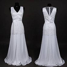 Šaty - Svadobné šaty v štýle 30. rokov - 6777732_