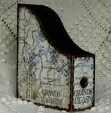 Krabičky - Gríngejtový nedokonalý učmochaný zakladač - 6778834_