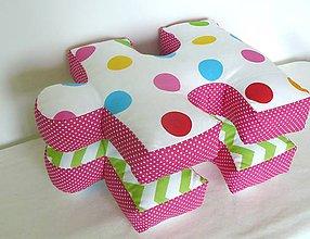 Textil - Veselé puzzle vankúšiky - 6777501_