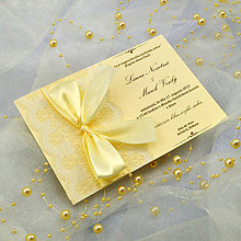 Papiernictvo - Elegantné svadobné oznámenie - 6778685_