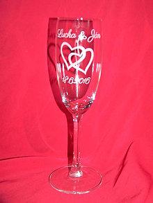 Nádoby - Svadobné poháre + gravirovanie 13 - 6776621_