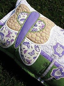 Úžitkový textil - Vankúš s menom a aplikáciou motýľa - 6780118_