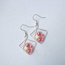 Náušnice - náušnice v ružovom - 6780612_