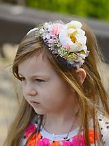 Ozdoby do vlasov - čelenka by michelle flowers - 6780671_
