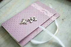 - Scrapbook obálka na peniaze - fialová - 6782610_