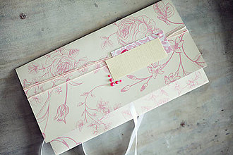 Papiernictvo - Obálka na peniaze - ružová so žltou - 6782572_