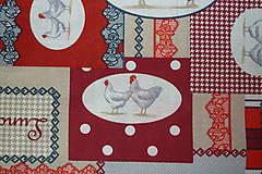 Textil - Látka Koko červená - 6783451_